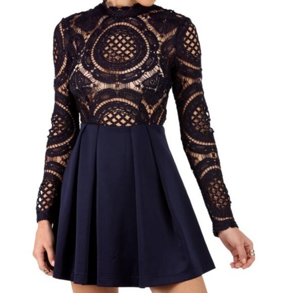dde11bb66000 Windsor Dresses | Nwt Pleated Long Sleeve Lace Dress | Poshmark
